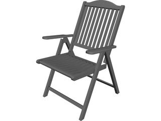 Adirondack Chair CAD 3D Model