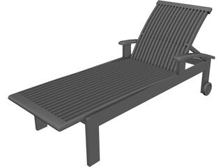 Lawn Chair CAD 3D Model