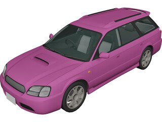 Subaru Legacy Station Wagon (1998) 3D Model 3D Preview