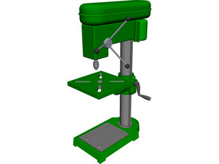 Press Drill CAD 3D Model