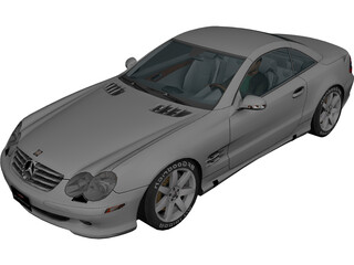 Mercedes-Benz SL500 3D Model
