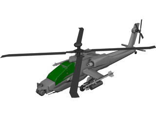 Boeing AH-64 Apache 3D Model 3D Preview