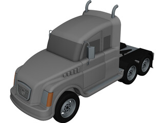 Heavy Duty Truck CAD 3D Model