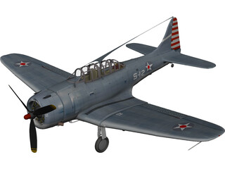 Dauntless Dive Bomber 3D Model