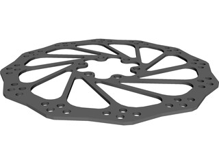 Mountain Bike Brake Rotor CAD 3D Model