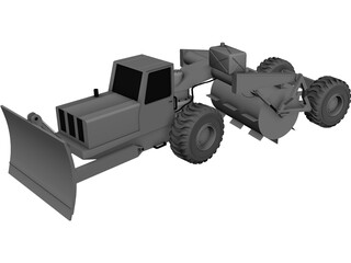Tree Breaking Modified Truck 3D Model