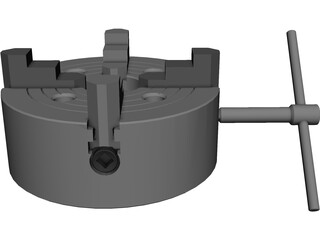Chuck Precision 4-Jaw CAD 3D Model