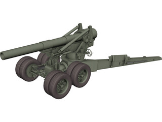 M115 Howitzer 3D Model