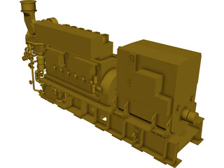 Engine Diesel Mak 6M25 Status5 CAD 3D Model