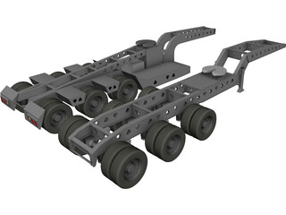 Long Load Trailking Decker Trailer 3D Model