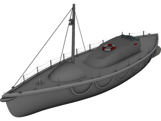 41ft Watson Class Lifeboat  3D Model