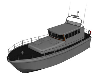 Mersey Class Lifeboat 3D Model