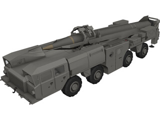 Scud Missile Launcher Maz 3D Model