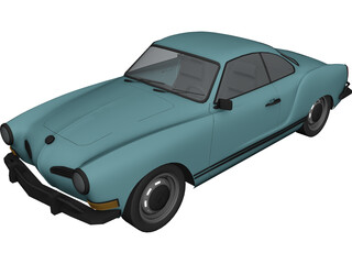Volkswagen Karmann Ghia (1970) 3D Model