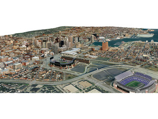 Baltimore City 3D Model