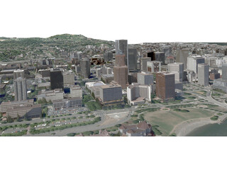 Portland City, Oregon 3D Model
