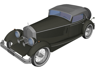 Mercedes-Benz SSK (1928) 3D Model