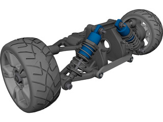 RC Car Suspension Rear CAD 3D Model