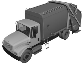 Truck Garbage Environmental 3D Model 3D Preview