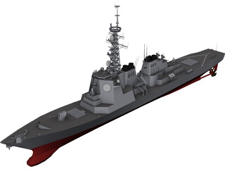 Kongo Destroyer 3D Model