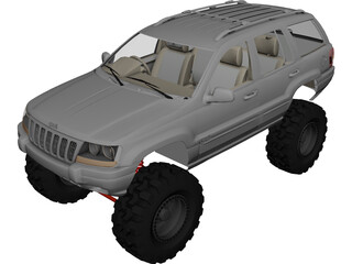 Jeep Grand Cherokee [Lifted] 3D Model