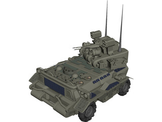 Armored Tank 3D Model