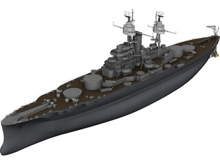 USS Oklahoma 3D Model