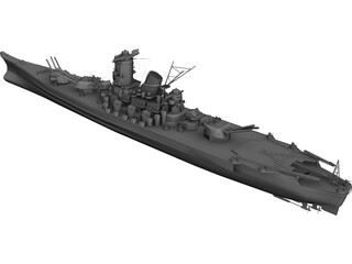 Yamato Battleship 3D Model 3D Preview