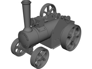 Stream Train Toy  CAD 3D Model