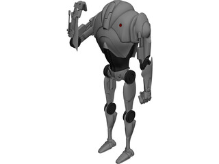 Star Wars Battle Droid 3D Model