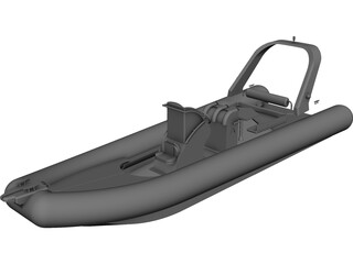 Rigid Inflatable Boat CAD 3D Model