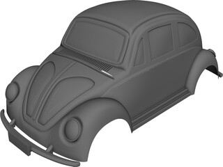 Volkswagen Beetle Body CAD 3D Model