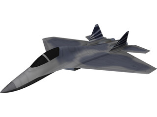 X-38 Gen 5 Fighter Concept 3D Model