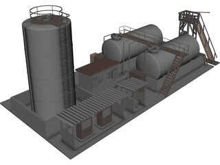 Diesel Pompstation 3D Model