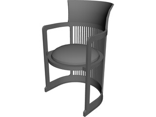 Chair Dinning Room 3D Model