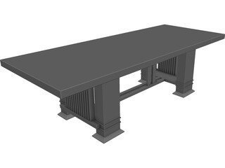 Table Dinning Room 3D Model
