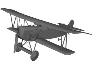 Fokker R7 3D Model 3D Preview