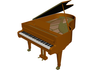Grand Piano 3D Model 3D Preview