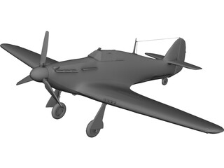 Hawker Hurrikane Mk1 3D Model