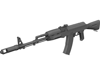 Kalasnikov AK-74 3D Model 3D Preview