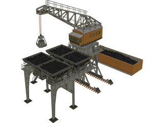 Large Coaling Station 3D Model