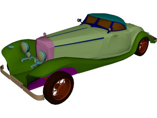 Mercedes-Benz 540 3D Model 3D Preview