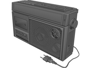 Radio Cassette Sanyo M270F 3D Model 3D Preview