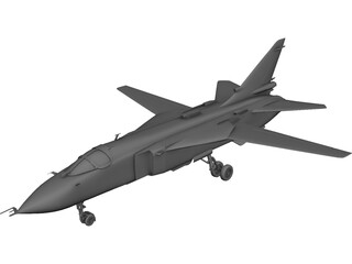 Sukhoi Su-24 Fencer C 3D Model