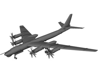 Tupolev Tu-95 Bear 3D Model
