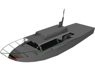 Small Boat 3D Model 3D Preview