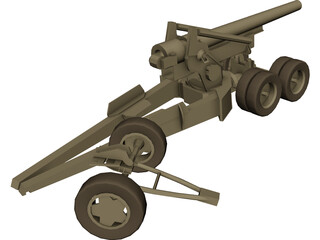 Howitzer (203 mm) 3D Model