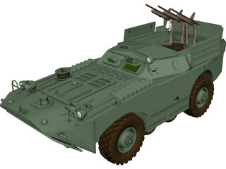 BRDM-1 and AT1 Snapper 3D Model