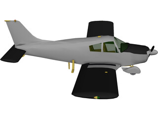 Piper PA-28 Cherokee 3D Model 3D Preview