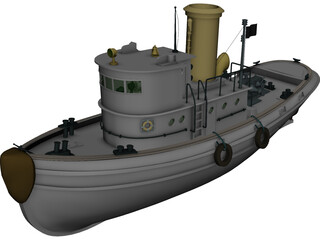 Coast Guard Tug 3D Model